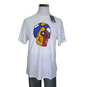 Converse Graphic T-Shirt White Color Skull Tee